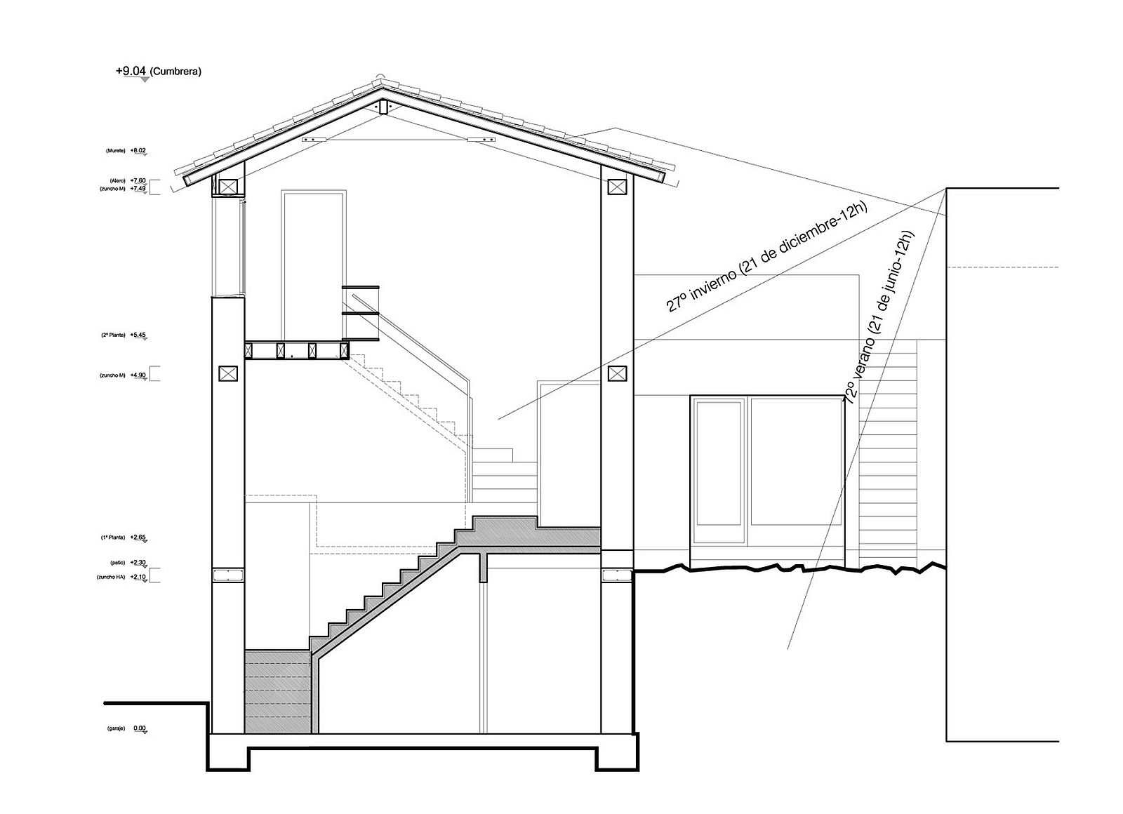 Passive solar design of the home makes it an efficient and sustainable structure