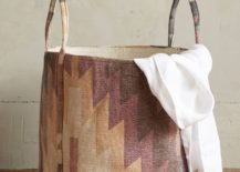 Patterned basket from Antropologie 217x155 20 Laundry Basket Designs That Make Household Chores Stylish