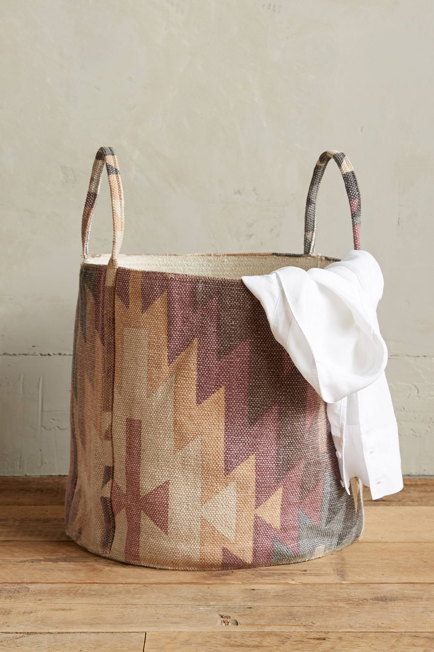 Patterned basket from Anthropologie
