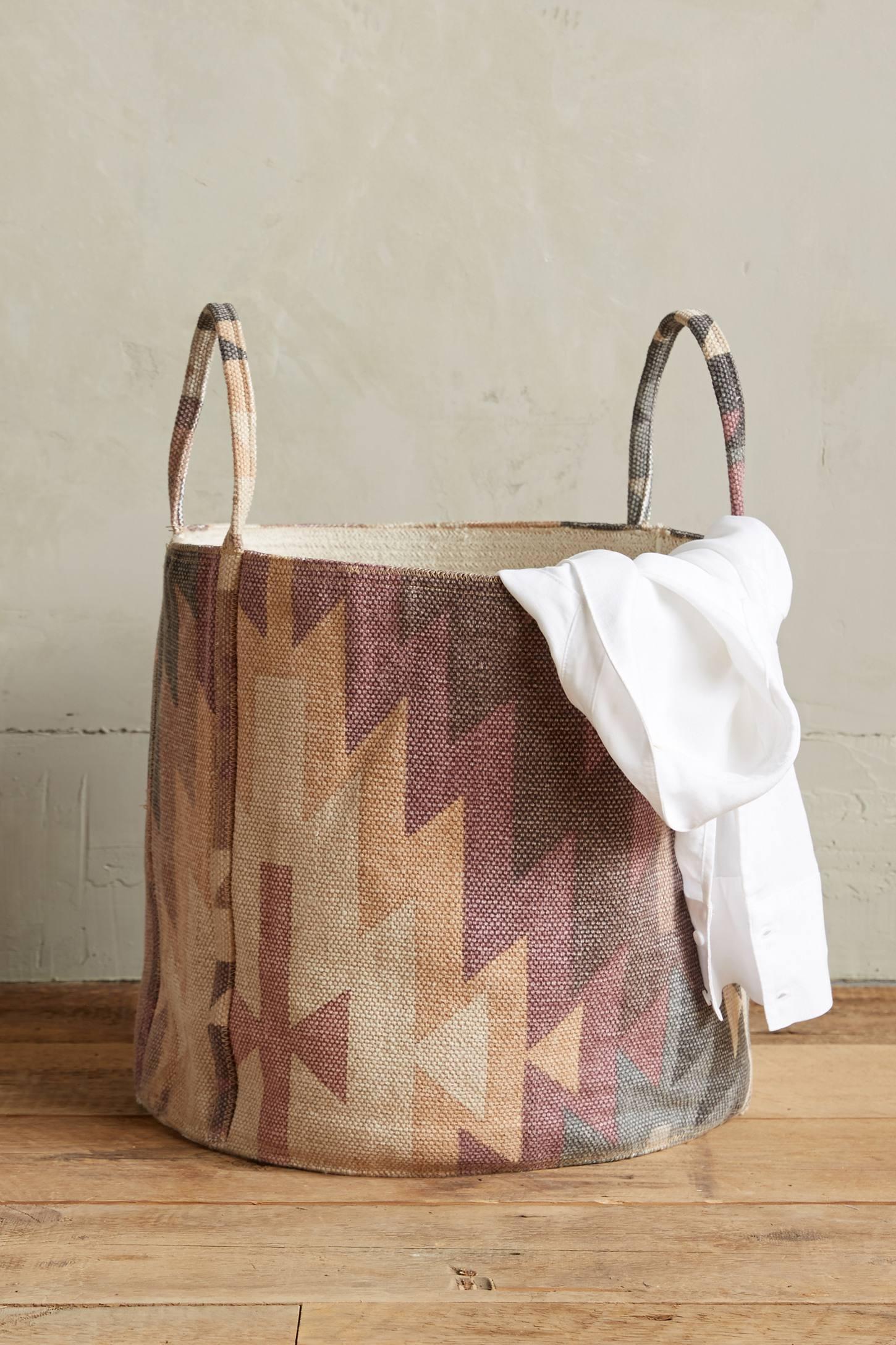 Patterned basket from Anthropologie