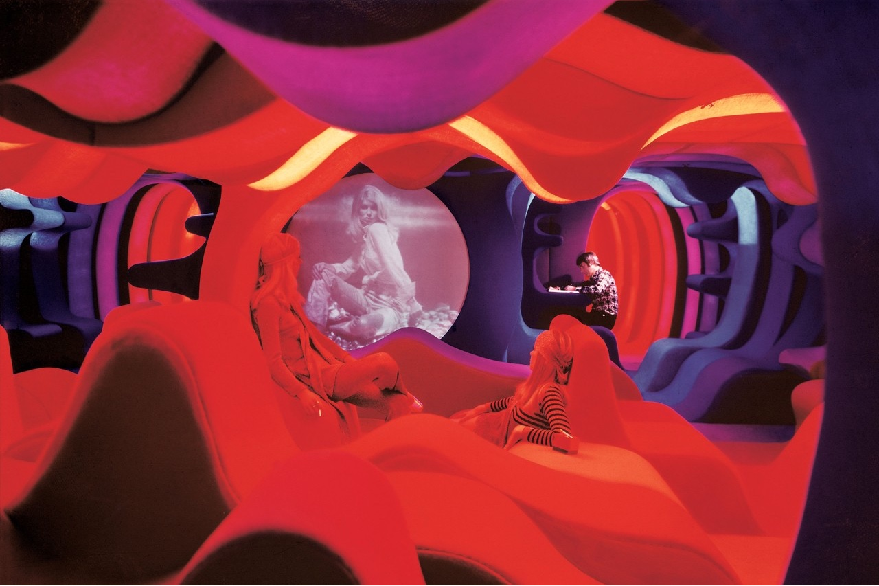 Phantasy Landscape, Visiona 2, IMM Cologne Furniture Fair, 1970 © Panton Design, Basel. Image via Domus.