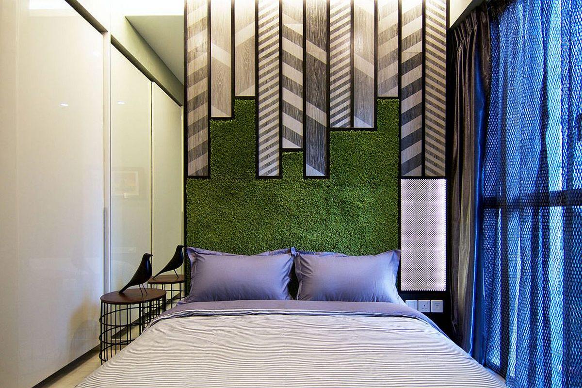 Piet Mondrian's art inspires the vivacious bedroom