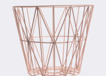 Pink wire basket from ferm LIVING