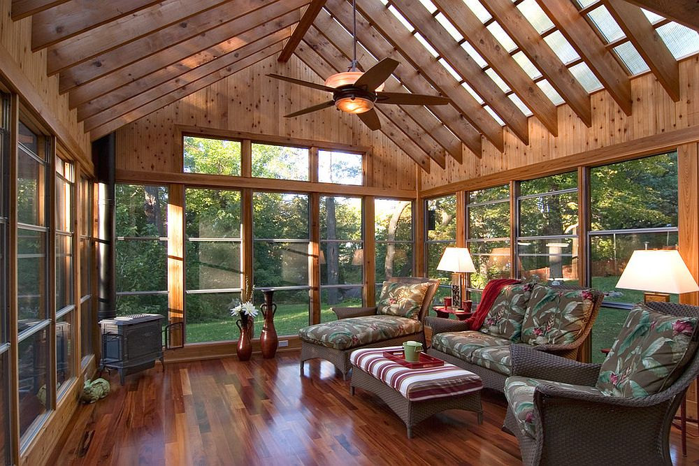 Superior ... Polycarbonate Roof Panels Flood The Sunroom With Filtered Natural Light  [From: Quigley Architects /
