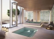Relaxing Zen pool at Auberge Residences in Miami