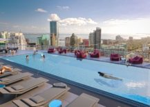 Resort-style rooftop pool at Brickell Heights