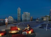 Rooftop pool and hangout at Brickell Heights transports you into a dreamy, vacation-style setting