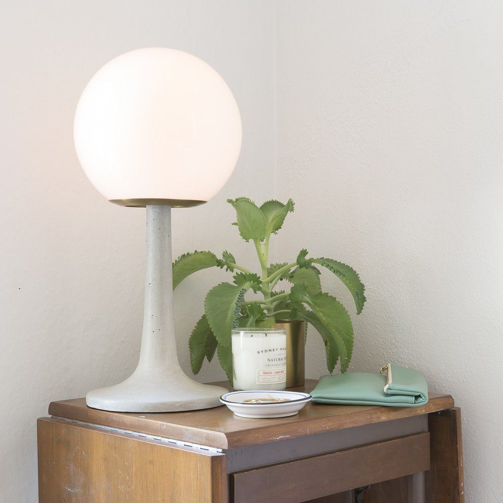 Round table lamp from Schoolhouse Electric