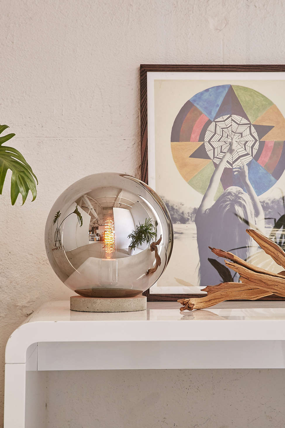 Round table lamp from Urban Outfitters
