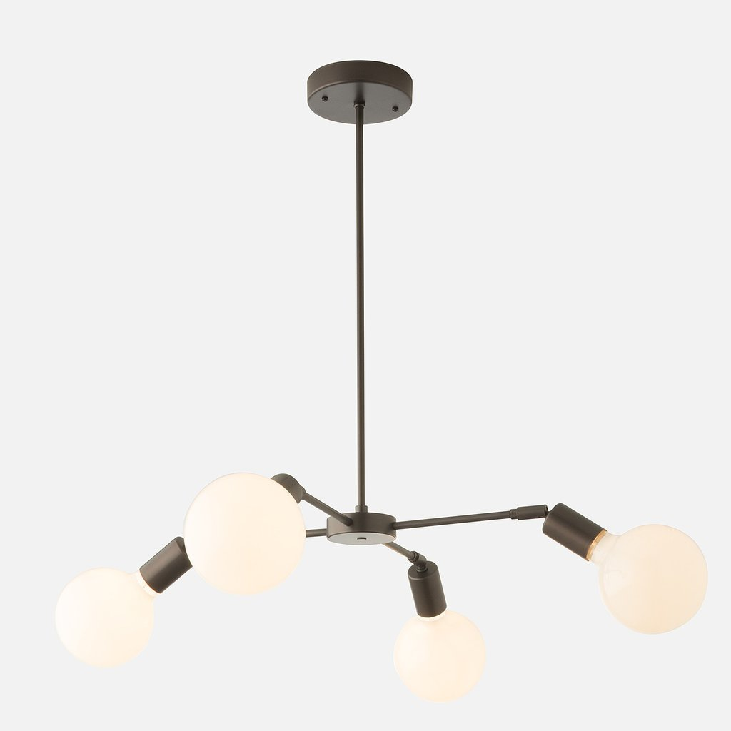 Sculptural bulb chandelier from Schoolhouse Electric