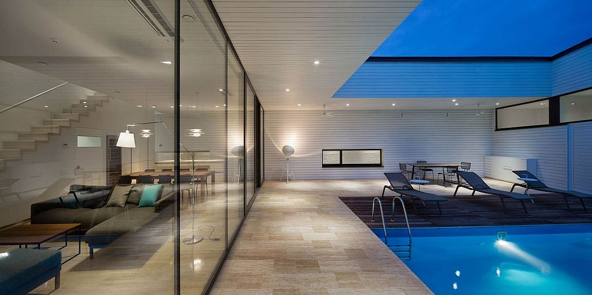 Semi-open deck and pool design at the Ark