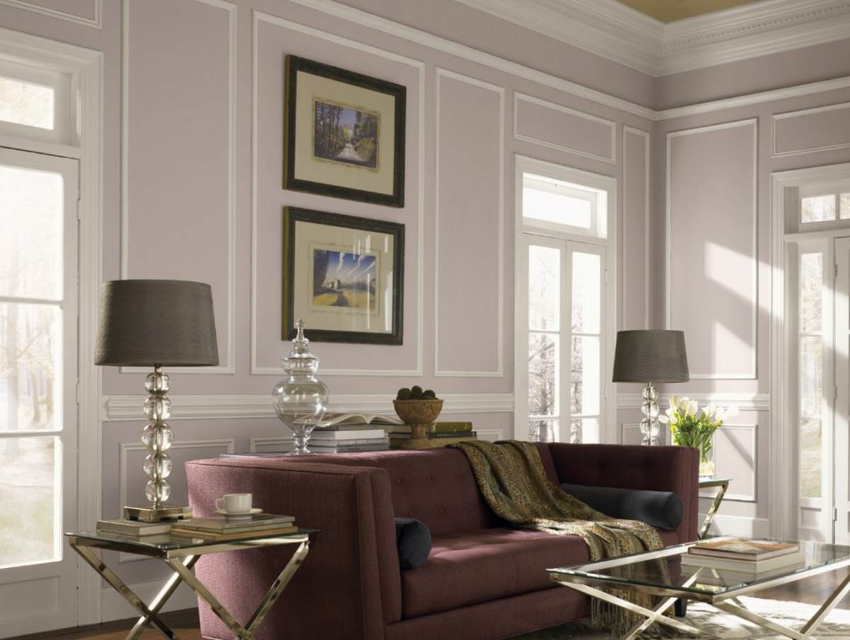 Shades of taupe in an elegant living room