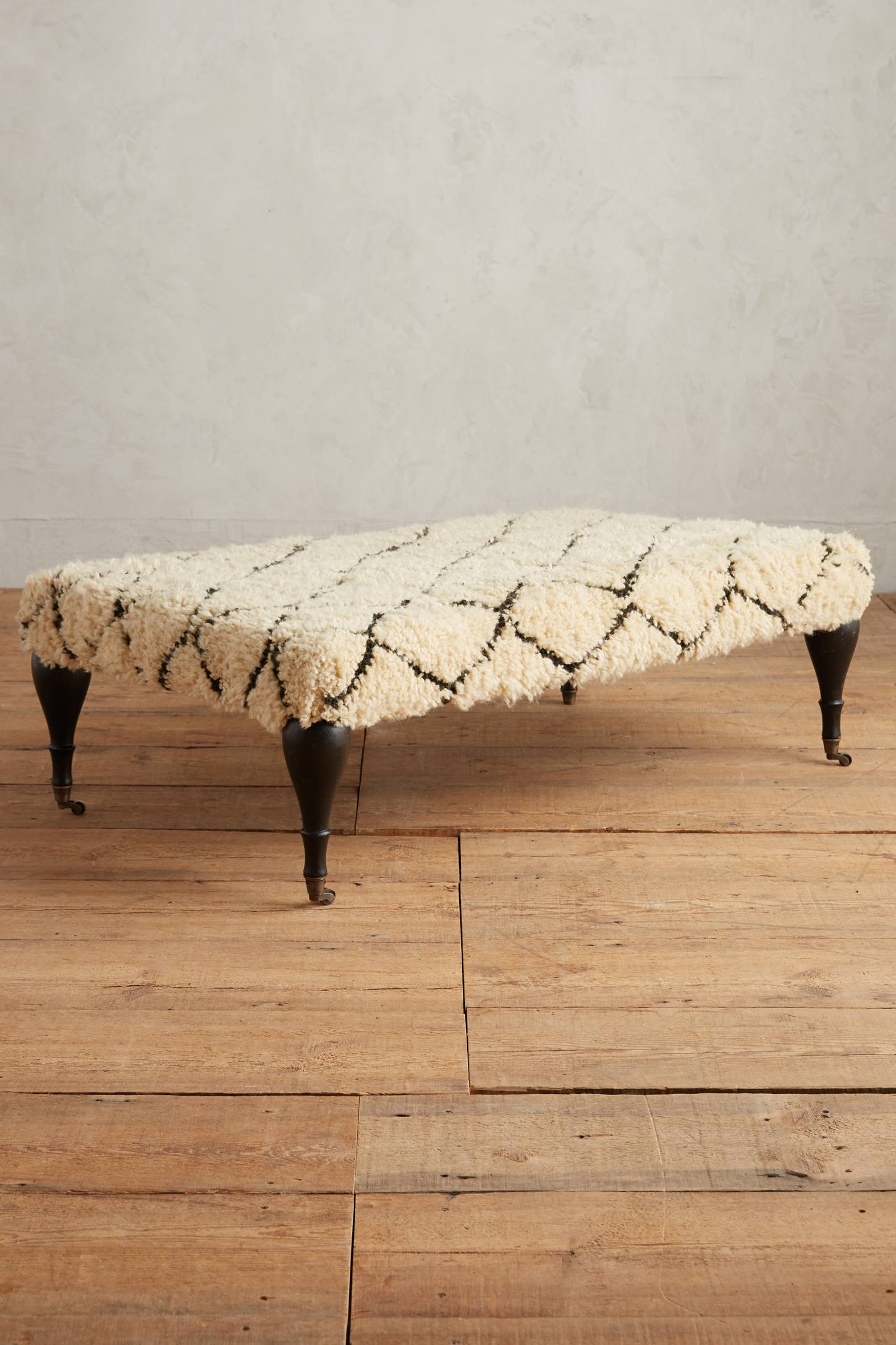Shag ottoman from Anthropologie