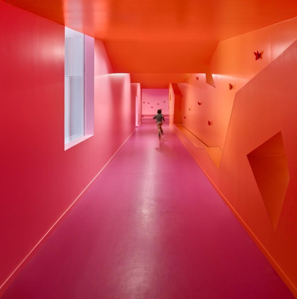 Simone Veil group of schools hallway