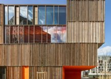 Simone Veil group of schools wood facade