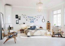 Smart Scandinavian bedroom in white