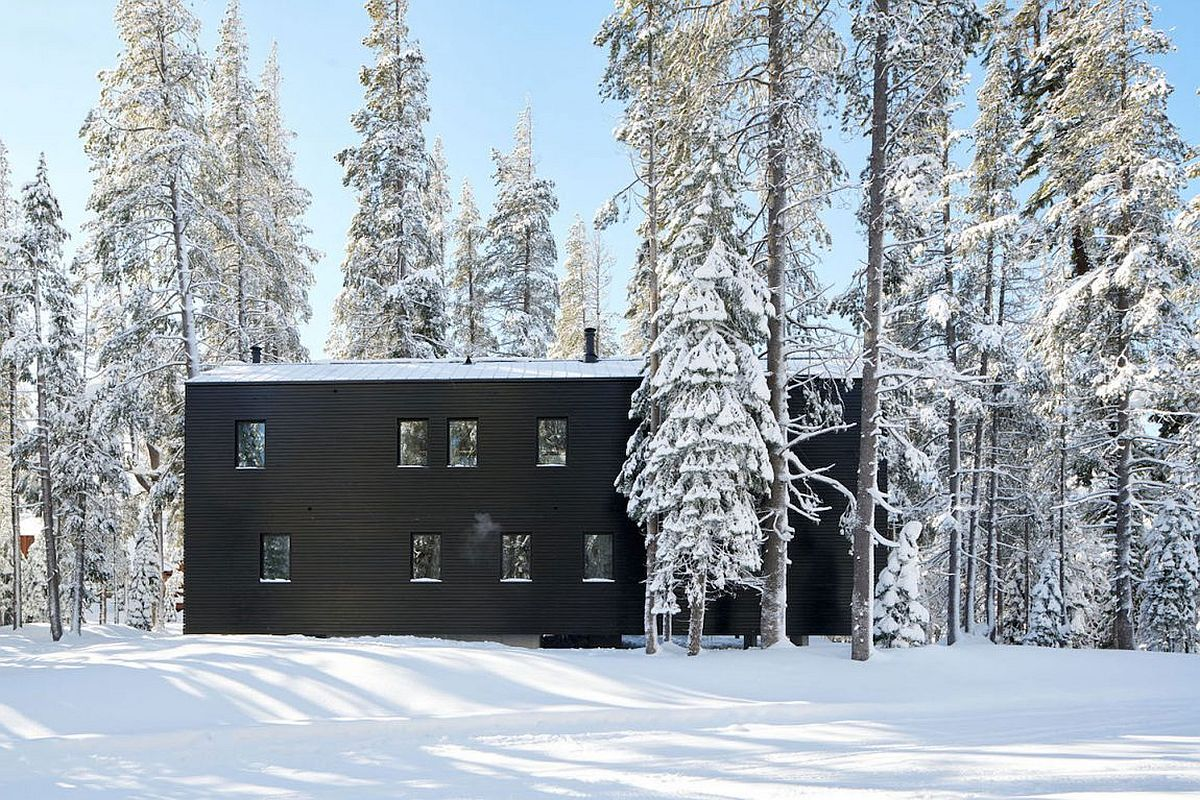 Spacious, 5-bedroom alpine chalet in California design to withstand heavy snowfall