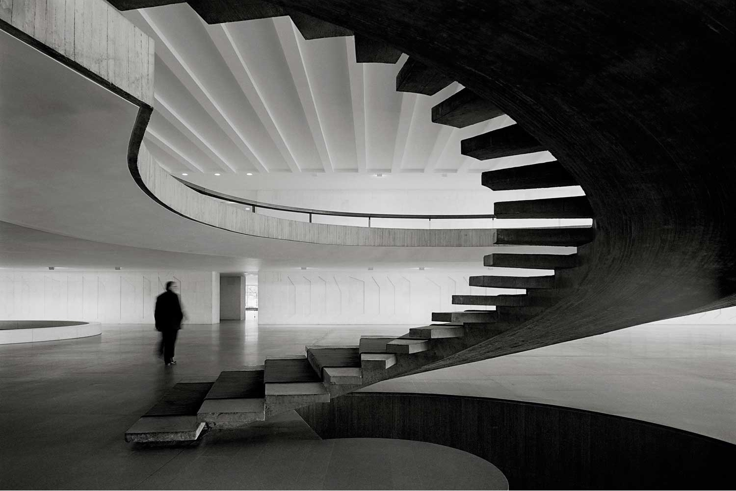 Spiral staircase in the Palácio do Itamaraty. Photo by Cristiano Mascaro via Yellowtrace.