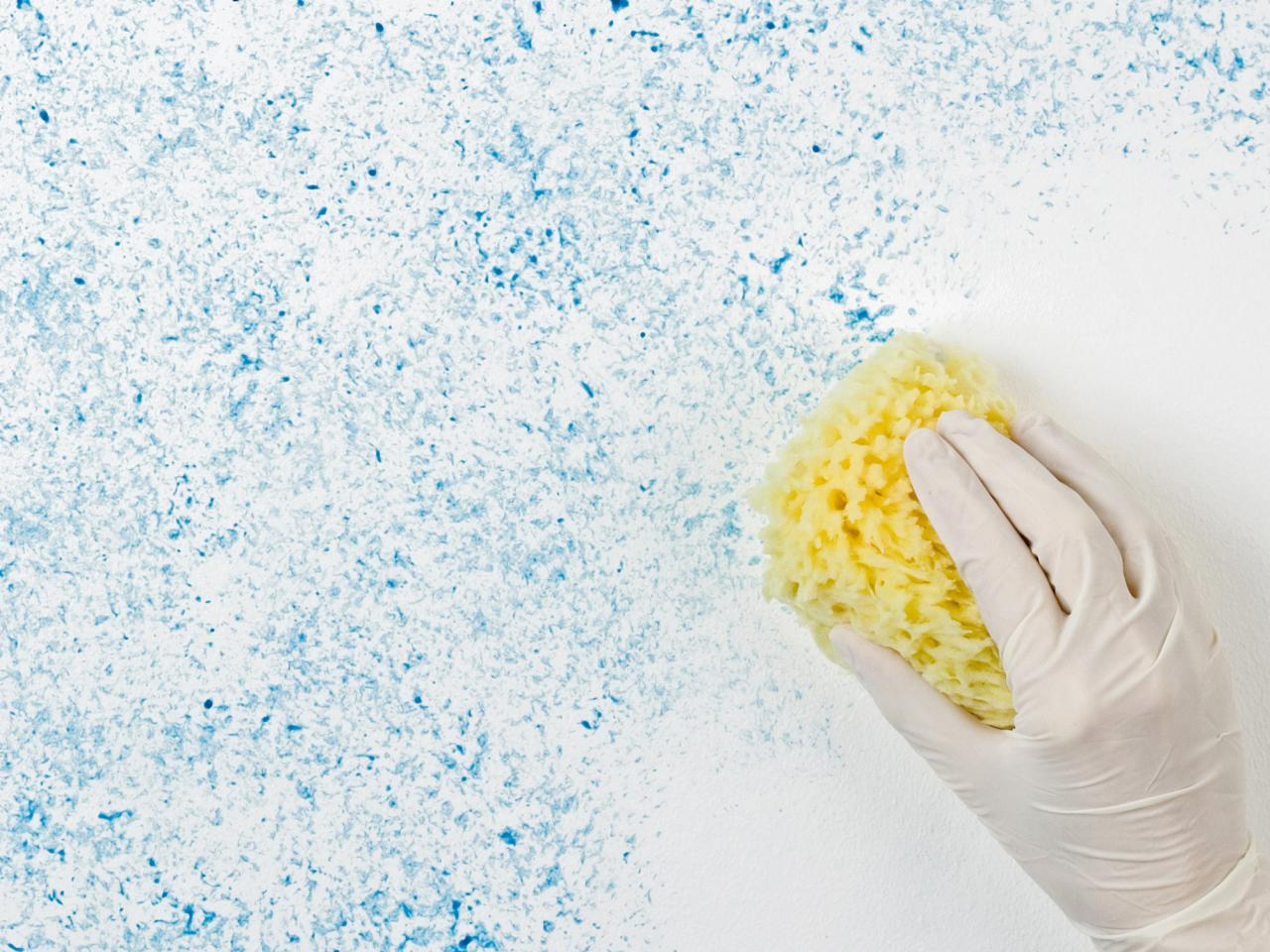 Sponging paint technique