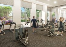 State of the art fitness center at NINE, Miami