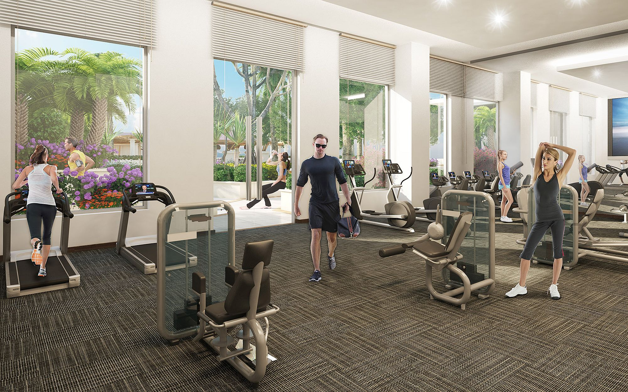 State Of The Art Fitness Center At Nine Miami Decoist