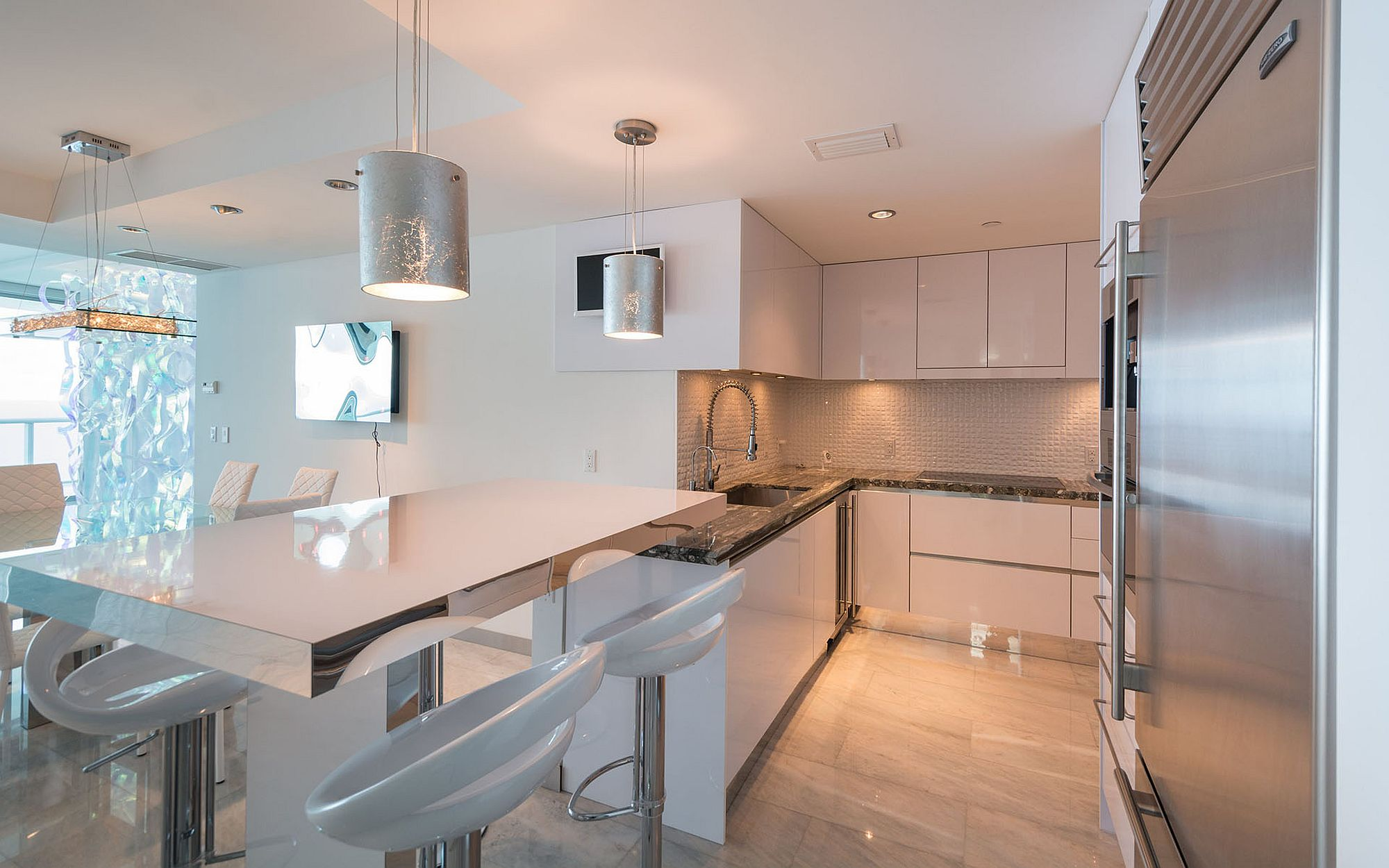 State-of-the-art smart kitchen at Jade Beach, Sunny Isles