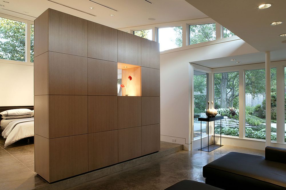 View In Gallery Storage Walls Help Delineate The Bedroom From Open Living Area Even While Offering A Space