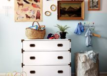 Striped bin from The Land of Nod
