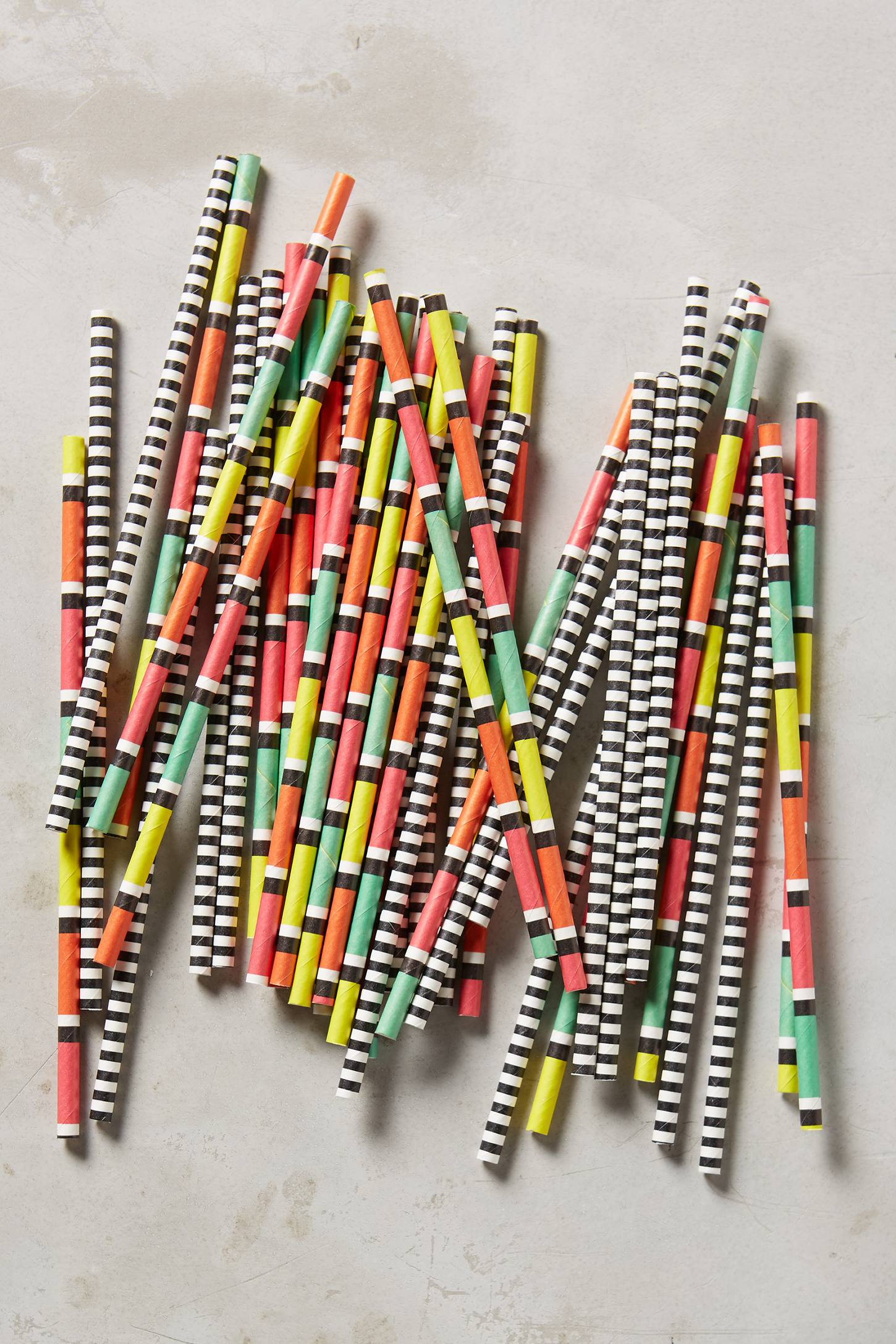 Striped party straws from Anthropologie
