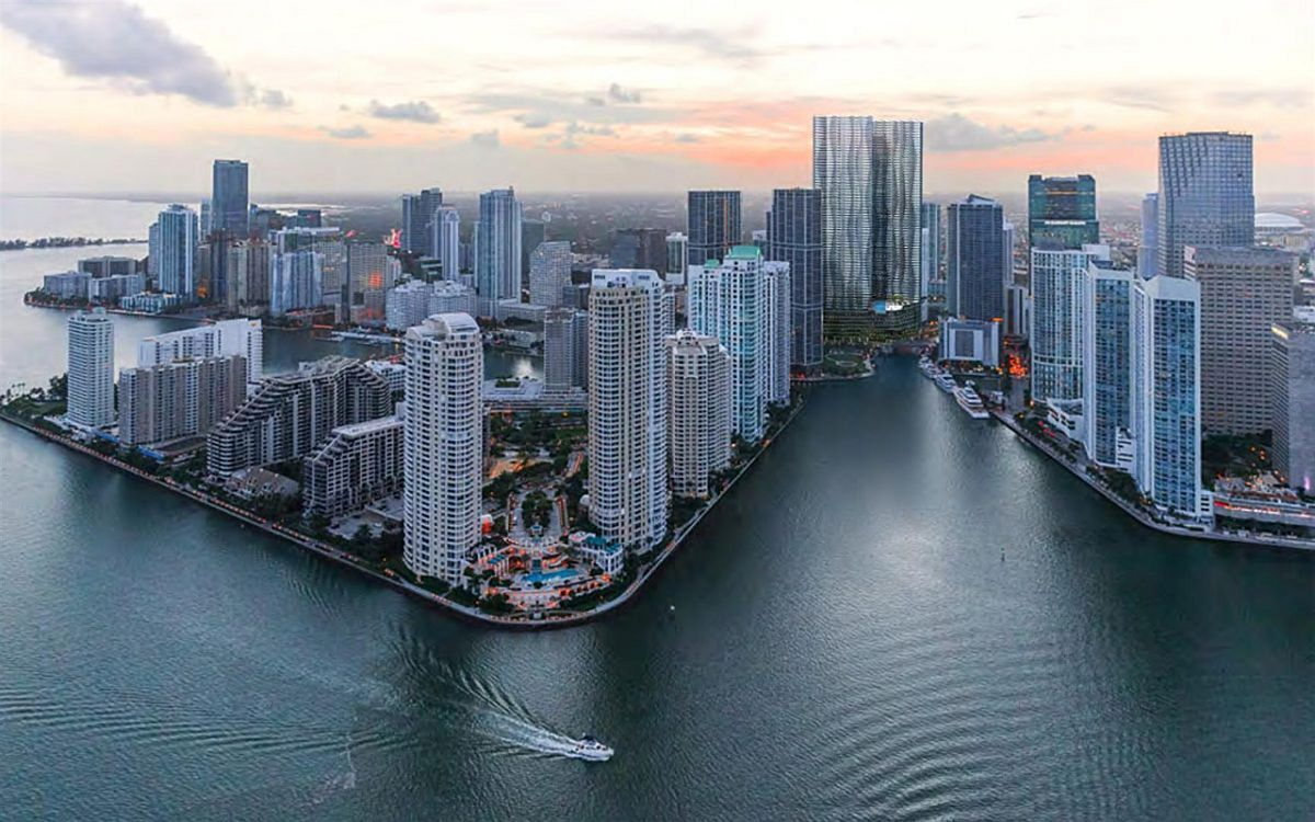 Stunning new development with luxury resort and condos nestled next to Biscayne Bay