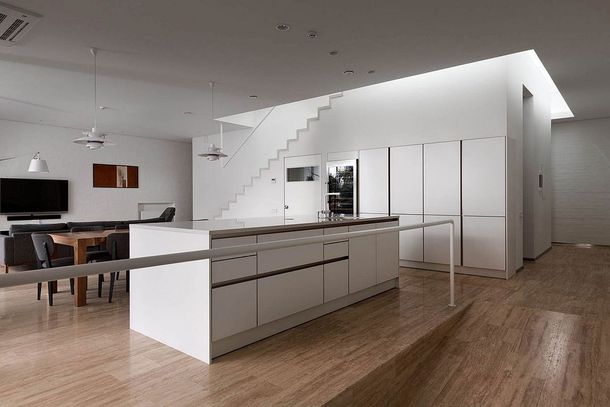 Stylish kitchen and family room at the Ark