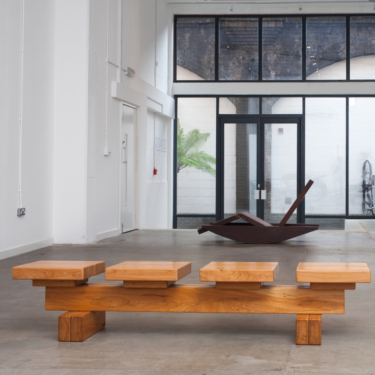 Tablete byZanini de Zanine is a limited edition bench,handcrafted from reclaimed perobatimber.