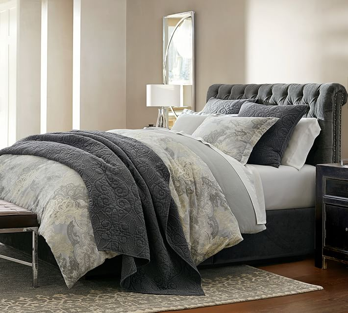 Taupe and grey in a cozy bedroom