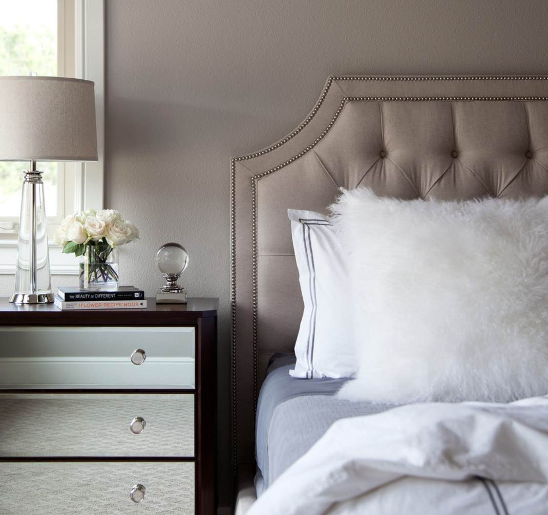 Taupe bedroom by Natalie Howe Design