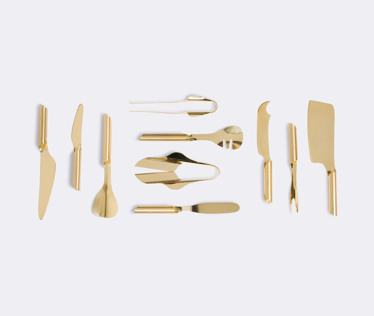 Tuju is a collection of gold-finished stainless steel tools. The collection is a collaboration between Jahara Studio and chef Ivan Ralston for Wallpaper* Handmade 2015. Image © 2015 WallpaperSTORE*.