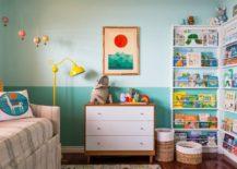 Two-tone wall in a modern nursery
