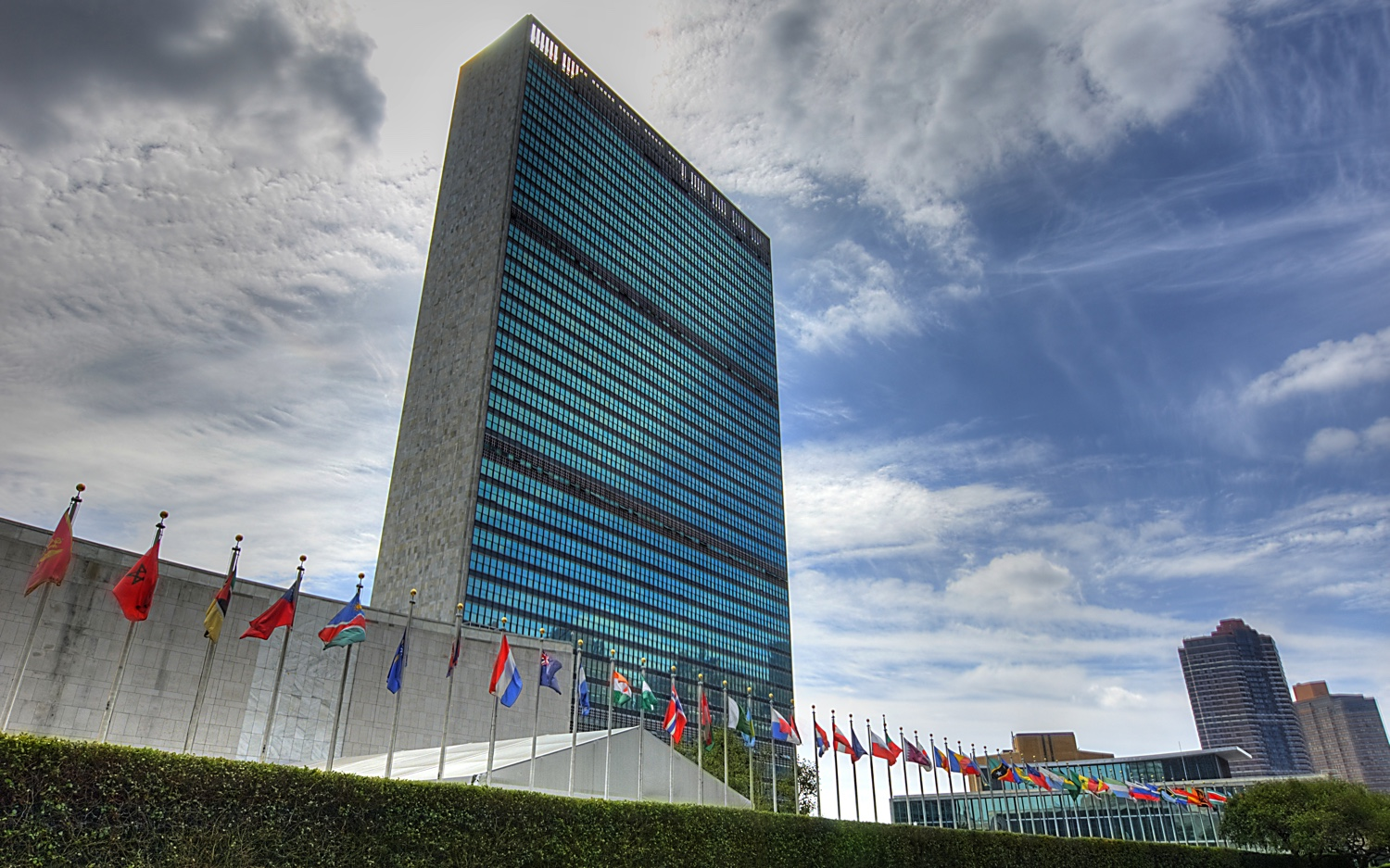 United Nations Headquarters, New York City. Photo by knowsphotos/flickr via The Tower.