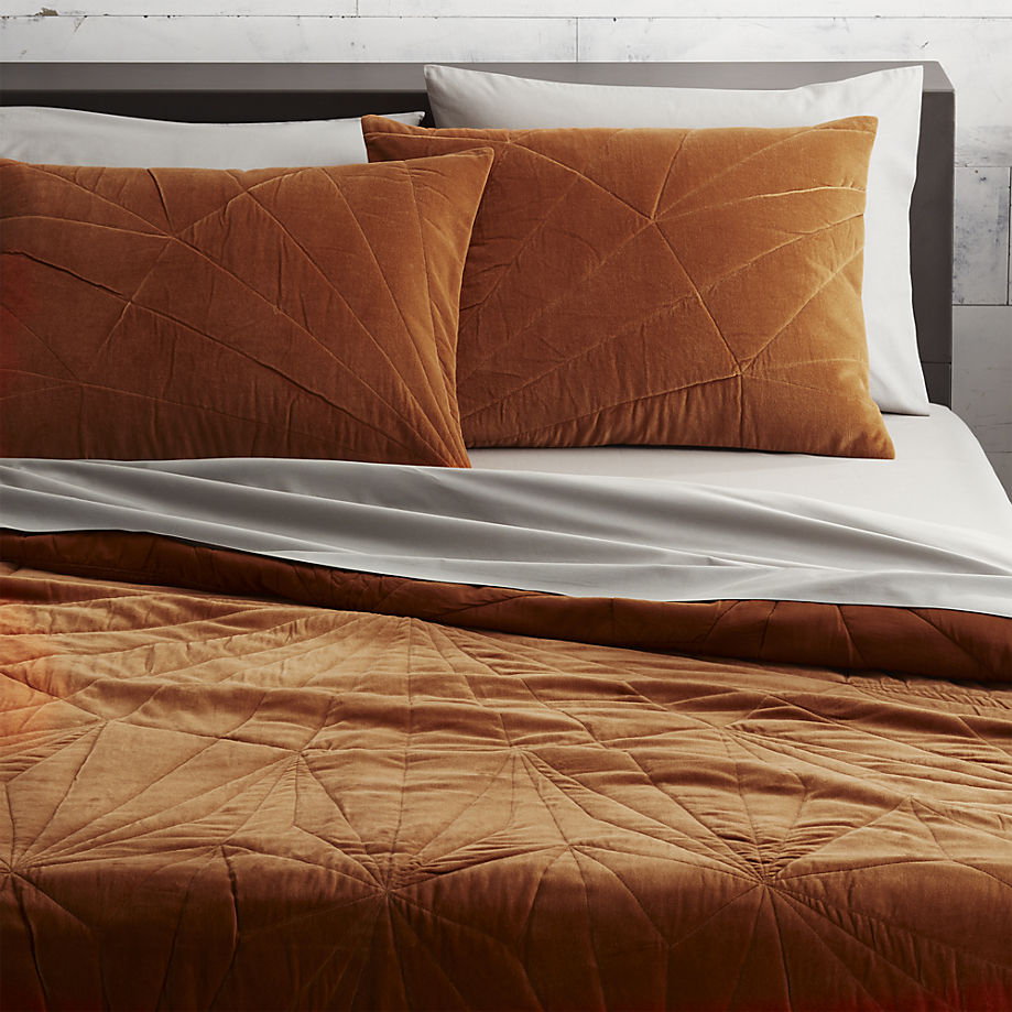Velvet bedding from CB2