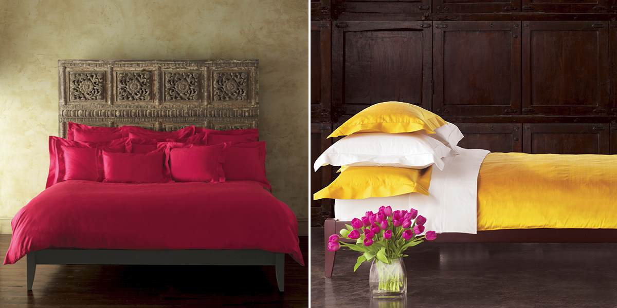 Vibrant bedding from Anna Sova Home