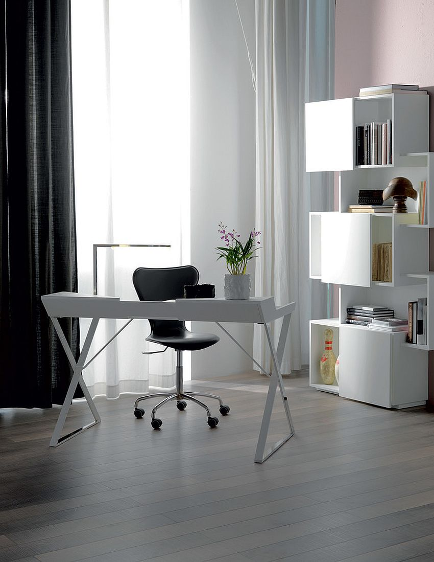 black white home office inspiration. white home office inspiration from cattelan italia design roomservice 360 black