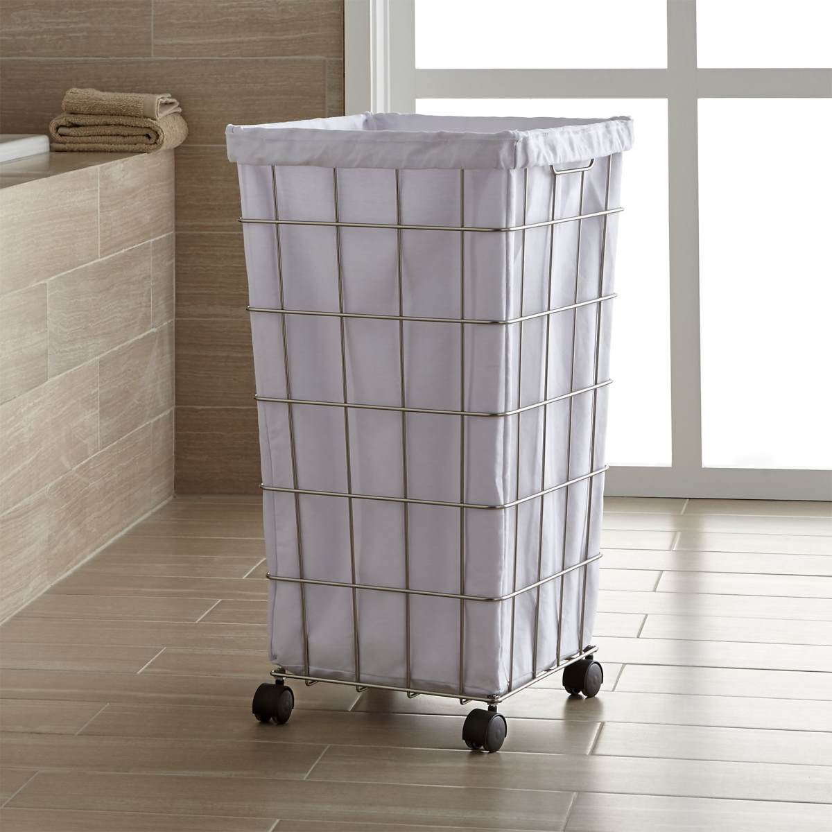 Wire hamper from Crate & Barrel
