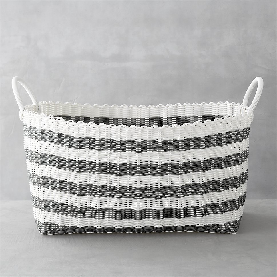 Woven laundry basket from Crate & Barrel