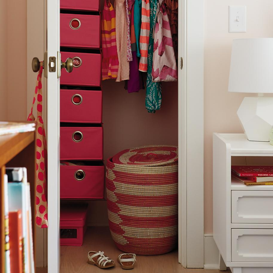 Woven laundry hamper from The Land of Nod