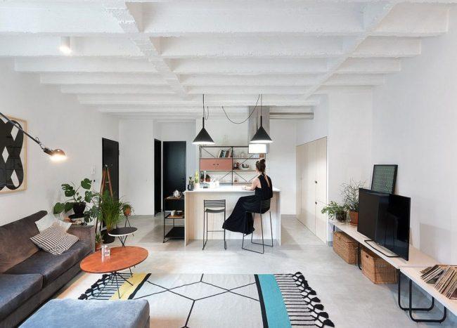 Custom Furniture Enlivens a World of White: Refurbished Apartment in Belgrade