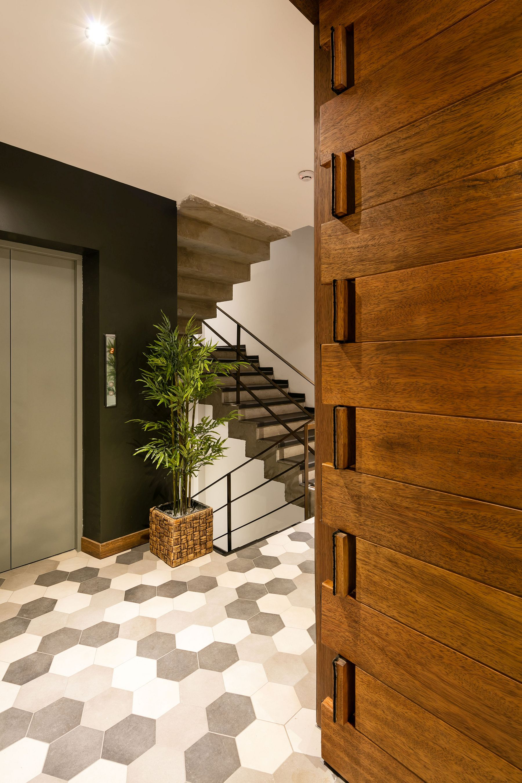A look at the interior of the Apartment Building in Ecuador