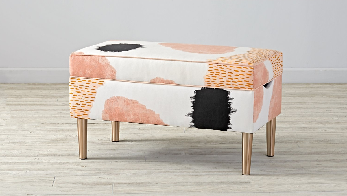 Abstract storage bench from The Land of Nod