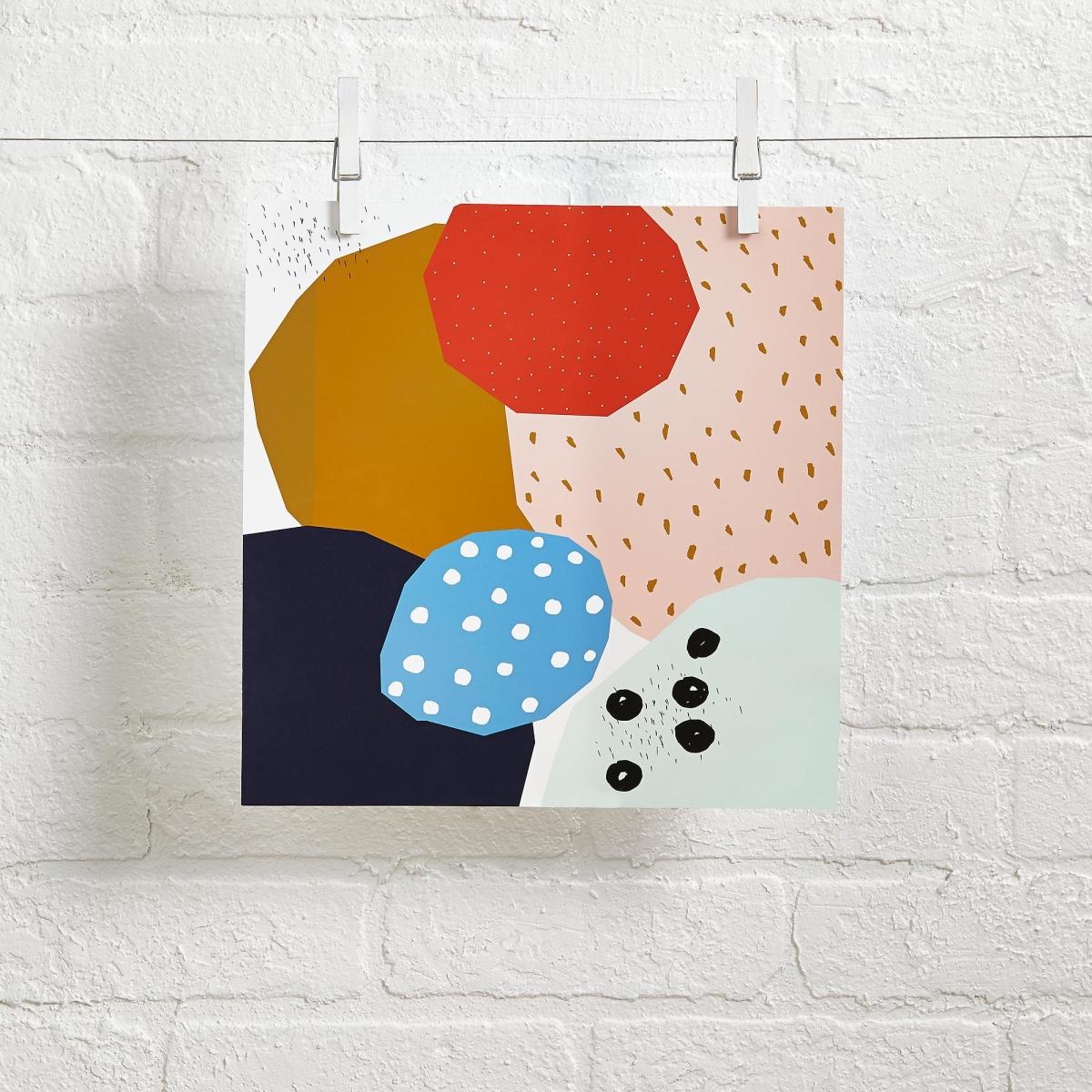 Abstract wall art by Ashley Goldberg