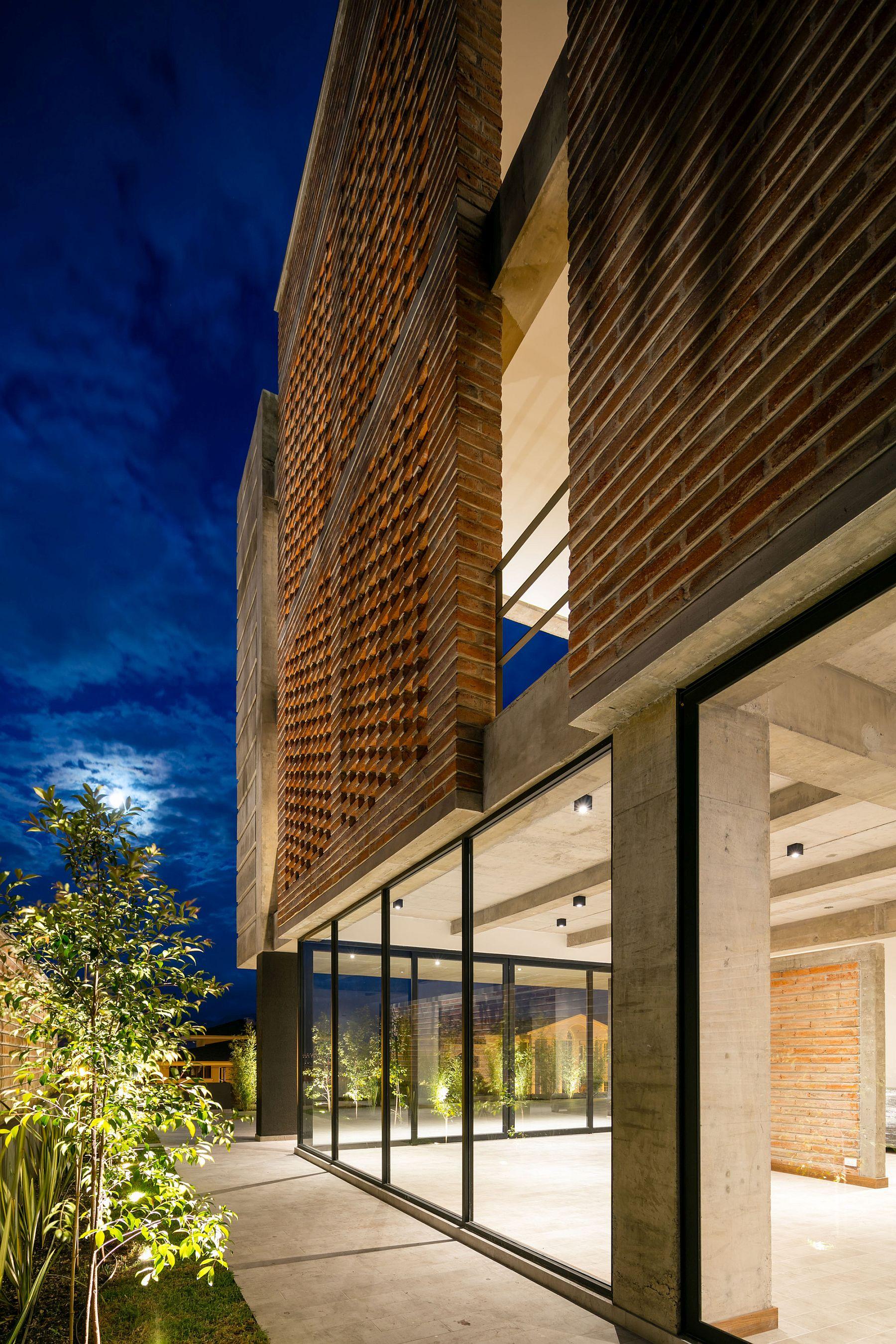 Apartment Building Zambeze at night