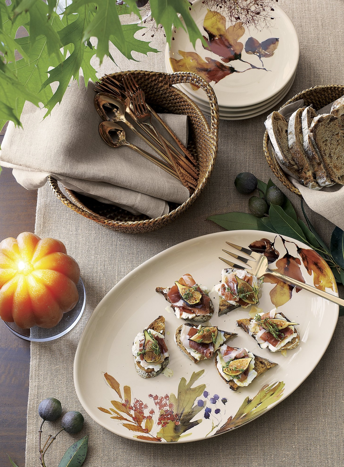 Autumn platter from Crate & Barrel