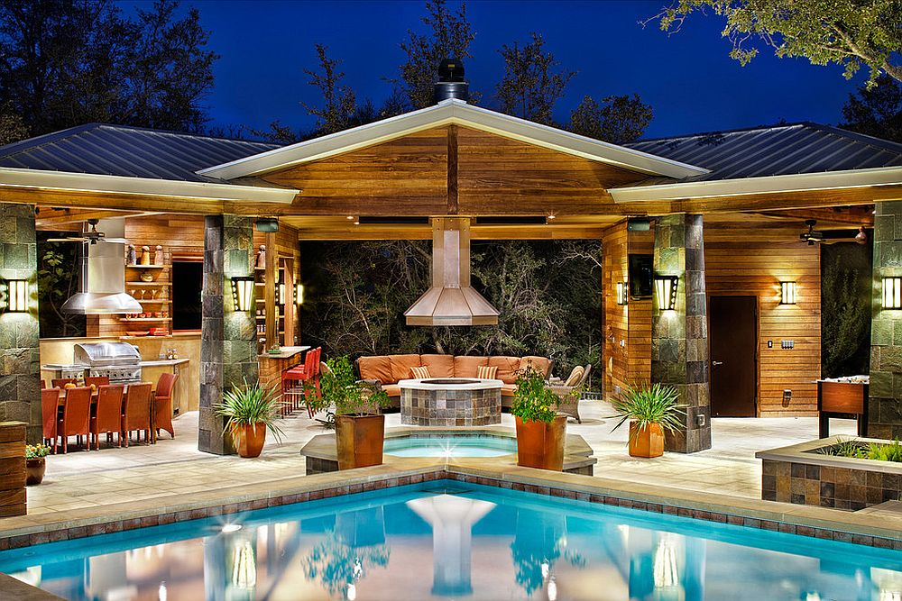 25 pool houses to complete your dream backyard retreat for Outdoor pool house designs